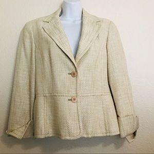 KASPER Women's dress suit BLAZER tweed 10